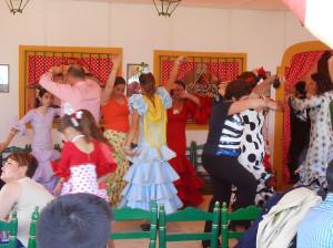 Фламенко на апрельской ярмарке в Севилье