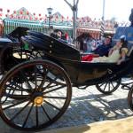 Конные экипажи на ярмарке