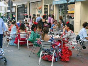 Фламенко на Ферии в Севилье